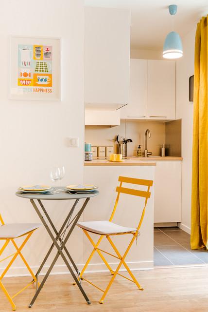 Studio 25m2 montmartre scandinavian kitchen paris by marion alberge d - Amenagement studio 25m2 ...