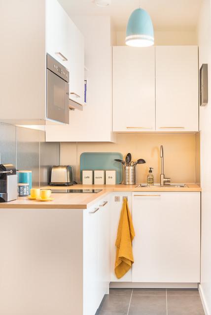 Marion Alberge studio 25m2 montmartre - scandinavian - kitchen - paris -marion