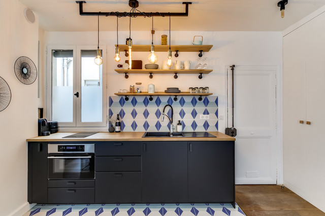 Studio Paris Eclectic Kitchen Paris By Cécile Humbert - Carrelage humbert