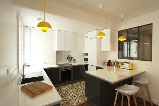 Transformation haussmannienne 85 m2 contemporain - Transformation cuisine ...