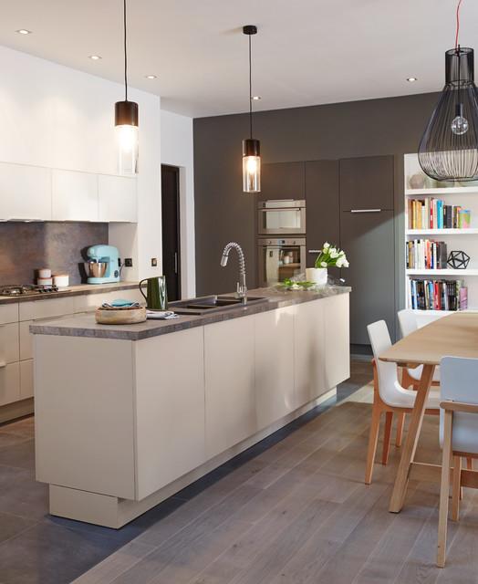 Une cuisine d 39 archi qui joue le ton sur ton - Decoration cuisine contemporaine ...