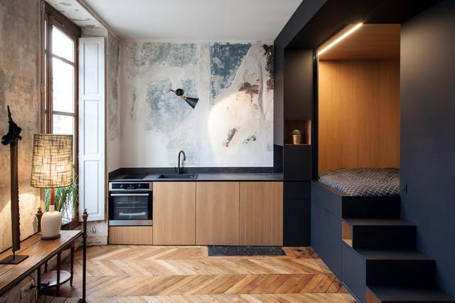 Une Cuisine éclectique Dans Un Studio à Strasbourg Saint DenisEclectic  Kitchen, Paris