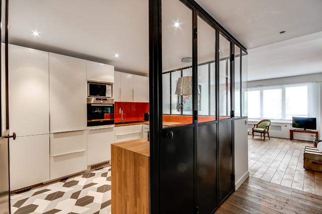 Verrière intérieure: autour d\'une cuisine - Contemporary - Kitchen ...