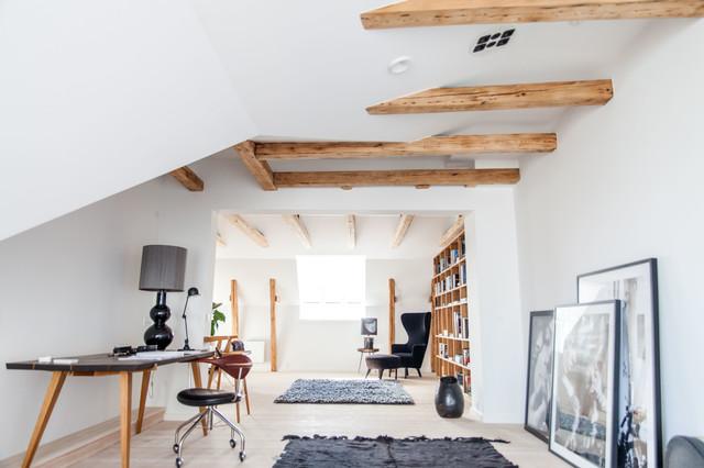 Full penthouse installation, Copenhagen skandinavisk-vardagsrum