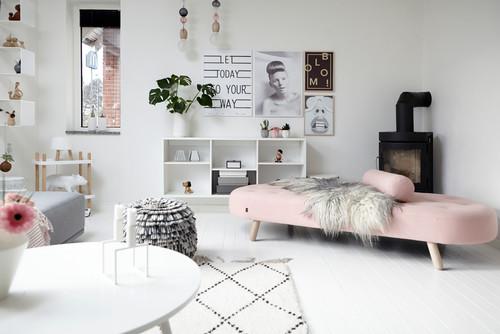 【Houzz】ソファで考える、大人っぽくハイセンスなピンクの使い方 1番目の画像