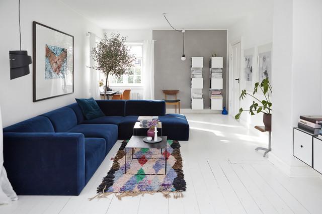 Eine Farbkombi 6 Styles Wohnzimmer In Blau Grau Und Weiss