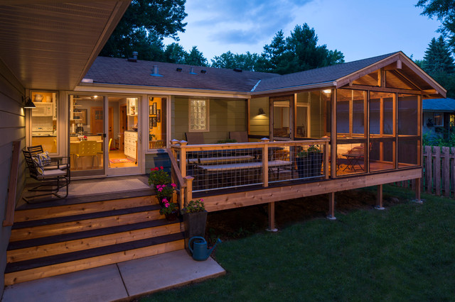 1962 rambler remodel traditional deck minneapolis for Rambler kitchen remodel ideas