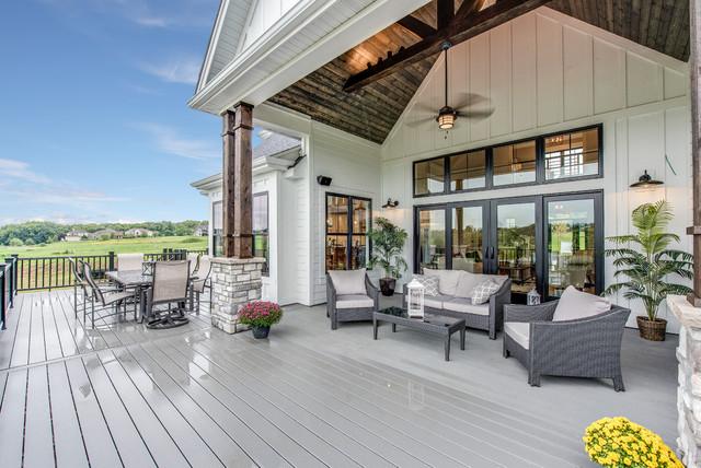 2018 Cavalcade Home Tour Quot Farmstead Quot Farmhouse Deck