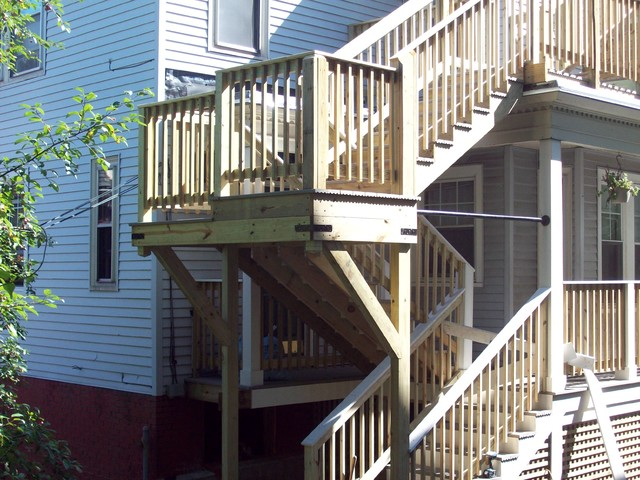 3 Story Fire Escape And Porch