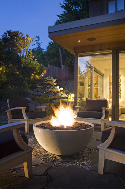 "36"" Hemi Firebowl contemporary-deck"