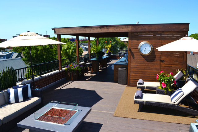 a lakeview roof deck lounge contemporary deck chicago by chicago roof deck garden. Black Bedroom Furniture Sets. Home Design Ideas