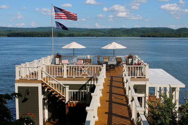 Alabama lake home beach style deck birmingham by for Beach house deck ideas