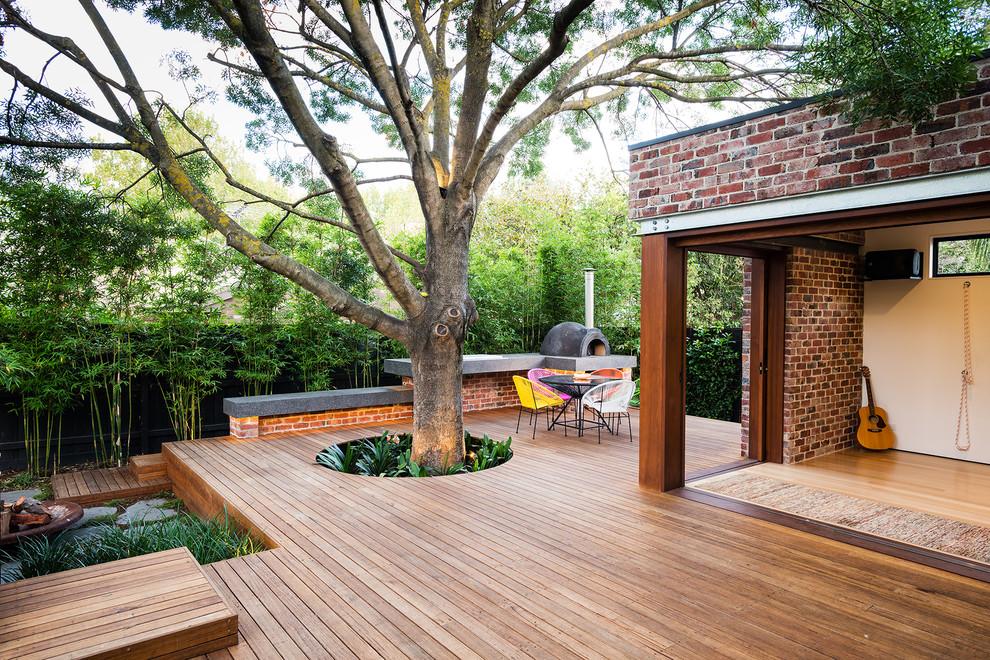 Trendy deck photo in Melbourne