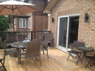 Aluminum Rail With Glass Modern Deck Ottawa By Platinum Construction