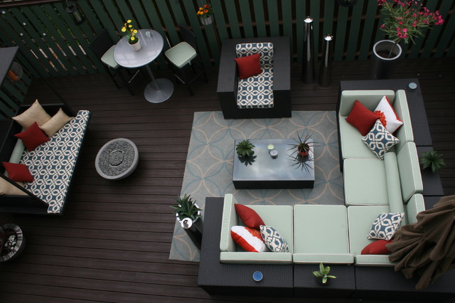 An Indoor U0026 Outdoor Oasis Transitional Deck
