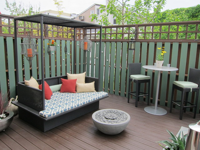 eclectic patio by Busybee Design