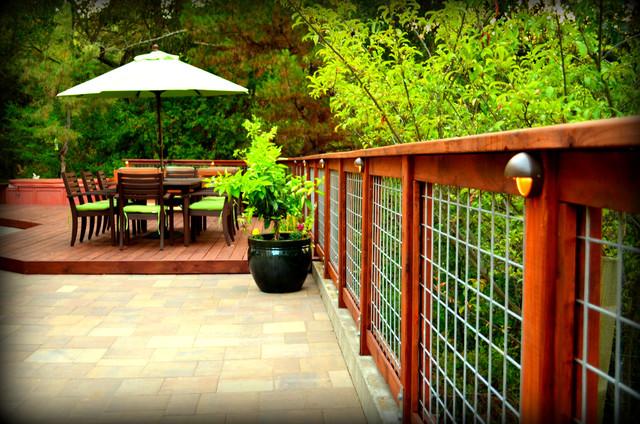 An Intimate Redwood Deck Transitional Patio San