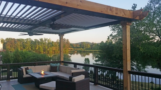 Arcadia Louvered Roofs For Decks Contemporary Deck
