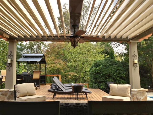 Arcadia Louvered Roofs For Decks Contemporary Deck Other By