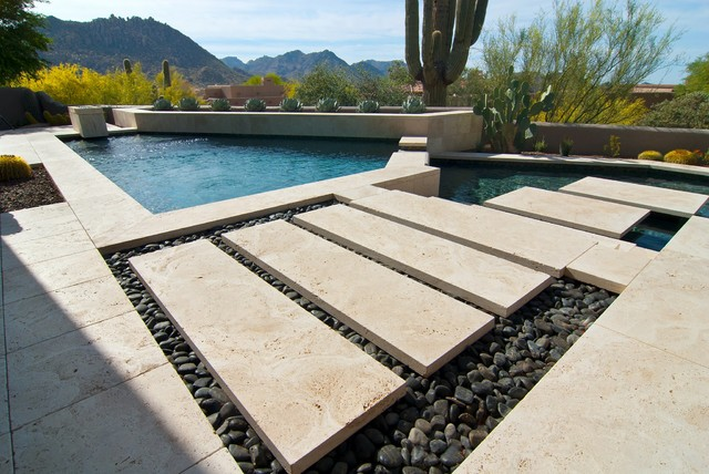 Houzz bathroom travertine - Arizona Home Modern Pool And Patio Modern Deck Phoenix By