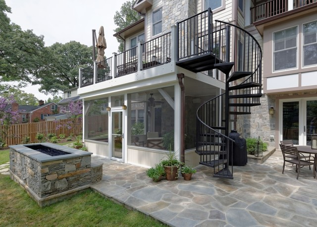 Arlington Deck With Screen Porch Amp Spiral Staircase