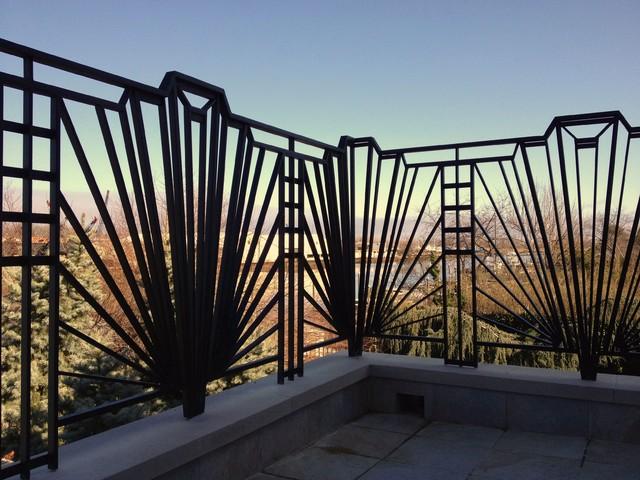 Art Deco Railing - Eclectic - Terrace - New York - by HMH Iron Design