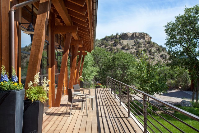 Aspen Mountain Modern Rustic Deck Denver By Savant