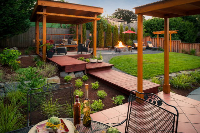 Auerbach property traditional deck portland by for Paradise restored landscaping exterior design