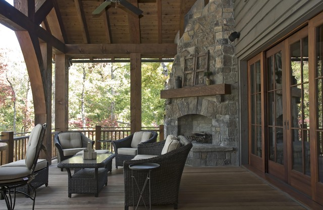 Azalea ridge rustic porch other metro by wright design Rustic style attic design a corner full of passion