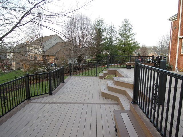 Azek Pvc Deck Brownstone Traditional Deck Cincinnati