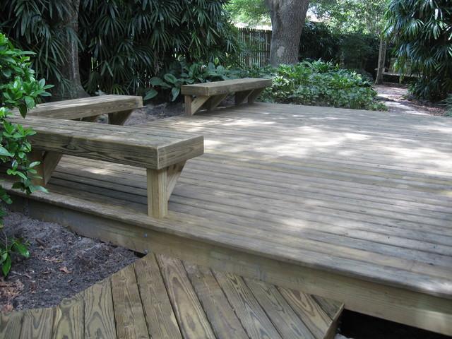 Backyard Deck traditional-deck