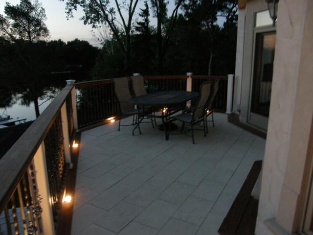 balcony lighting modern deck balcony lighting