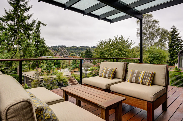 Ballard Outdoor Living Space Contemporary Deck
