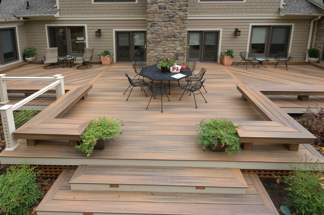 Baltimore fiberon deck for Flat pack garden decking
