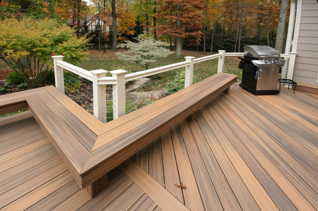 Baltimore fiberon horizon deck for Modern garden decking designs