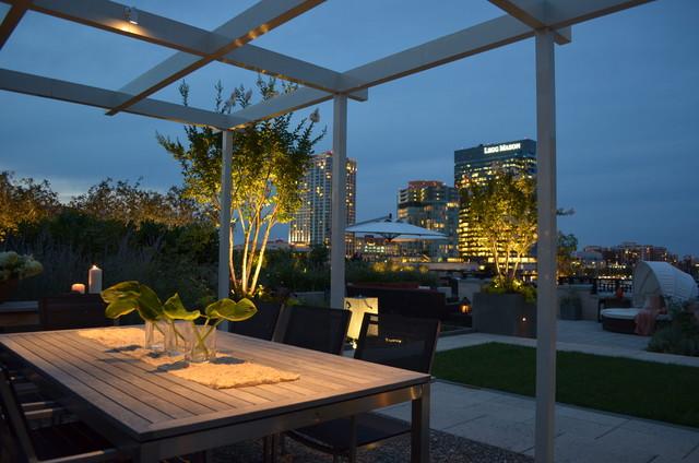 Baltimore Roof Top Terrace Modern Deck Baltimore