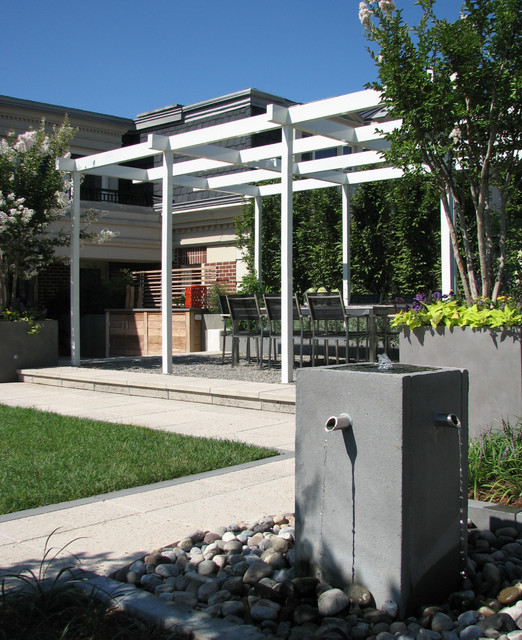 Baltimore roof top terrace modern deck baltimore for Plusen landscape architects