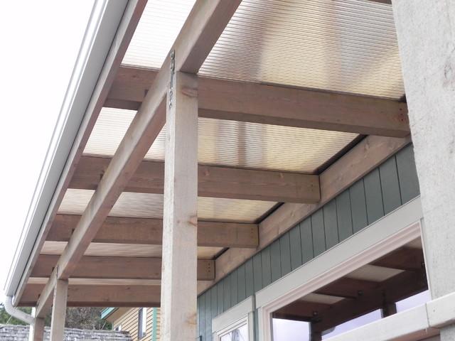 Beachfront Patio Cover Over Cedar Wood Frame Coastal Terrace And Balcony