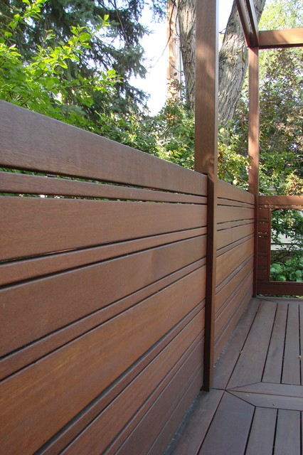 Beautiful Fences Contemporary Deck Calgary By Kayu