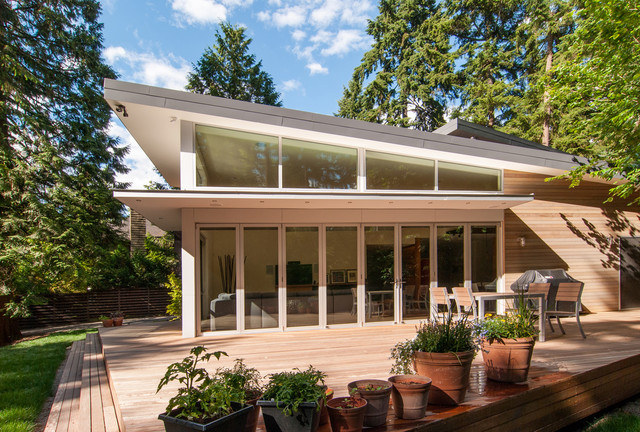 Beaux arts residence contemporary deck seattle by for Skillion roof house designs