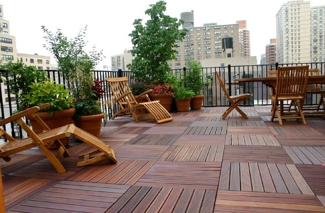 Before and After traditional-deck