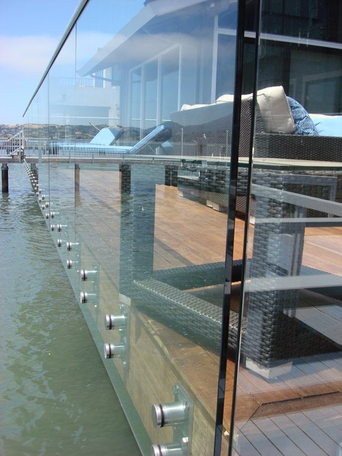 All glass deck railing in sausalito ot glass - Advantage using tempered glass fencing swimming pool balcony deck ...