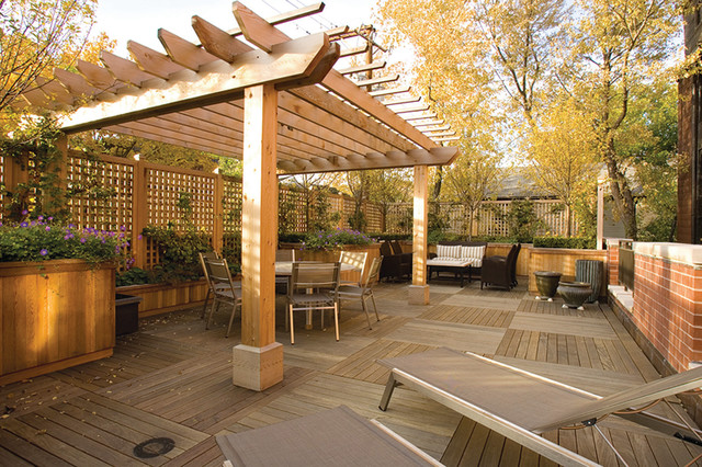 Best Outdoor Living Deck Traditional Chicago