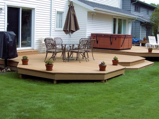 Bi Level Evergrain Composite Deck Located In Beachwood