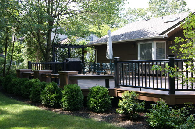 Big deck and hard scape traditional-deck