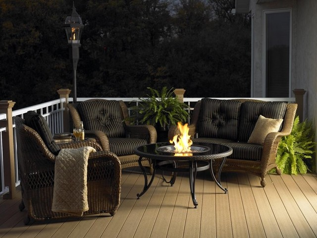 Black Glass-Fire Pit Table contemporary-firepits