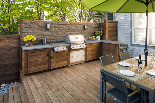 Wooden Outdoor Kitchens ~ Wooden outdoor kitchen