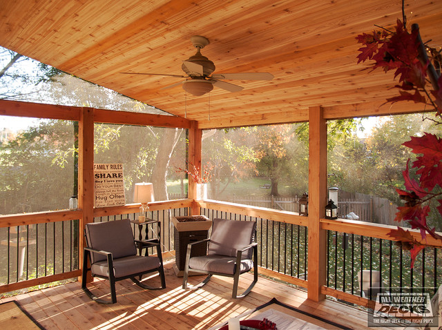 Brennaman Shingled Roof Overhang In Kansas City Traditional Deck Kansas City By All