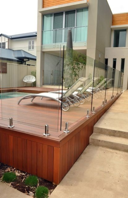 Brisbane Pool Deck Glass Balustrade Stainless Steel