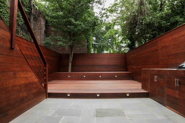 Brooklyn Enclosed Garden Modern Deck New York by Outside